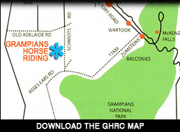 Maps and Directions for Grampians Horse Riding Centre
